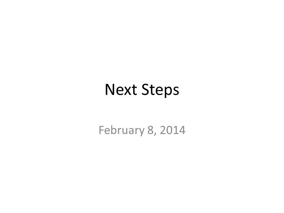 Next Steps February 8, 2014