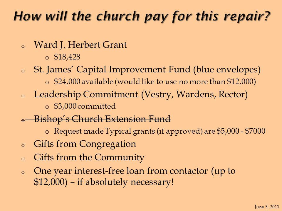 o Ward J. Herbert Grant o $18,428 o St.