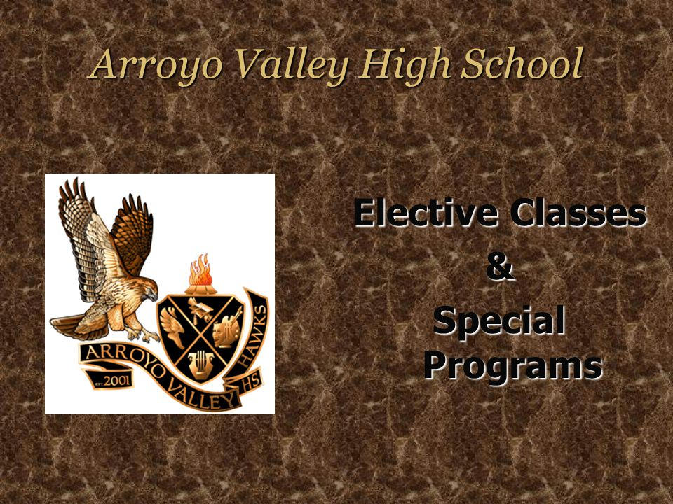 Arroyo Valley High School Elective Classes & Special Programs