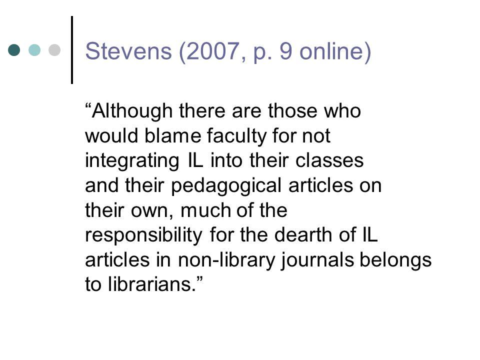 Stevens (2007, p.