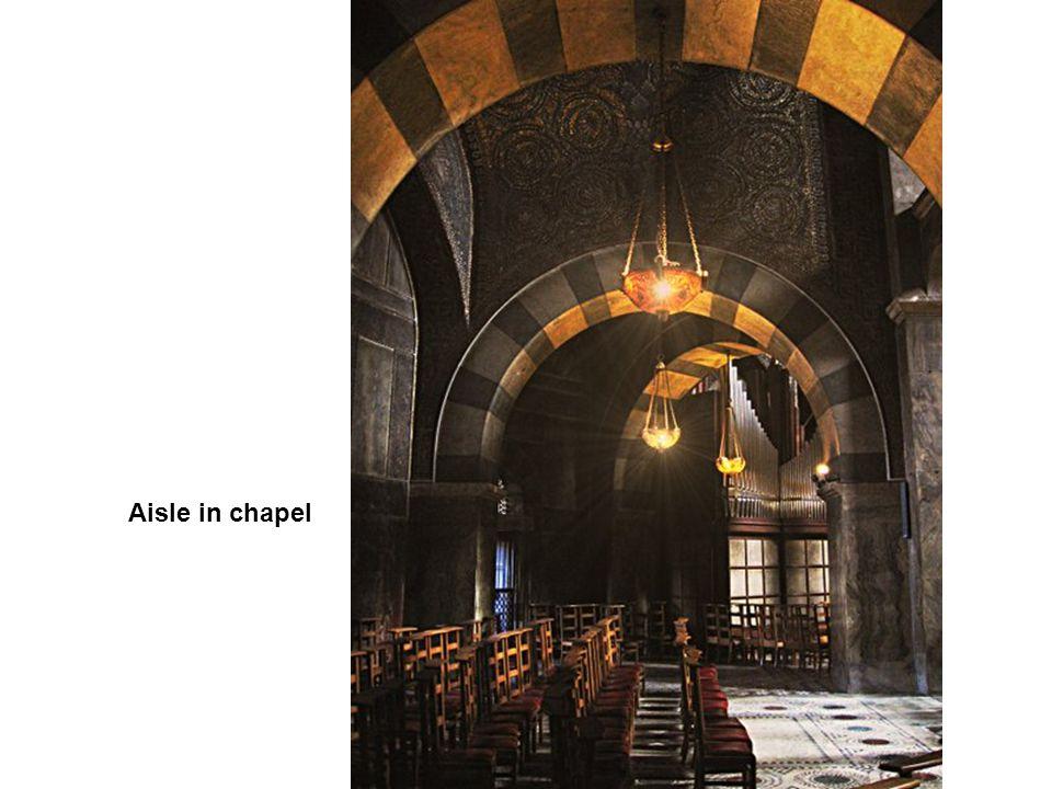 Aisle in chapel