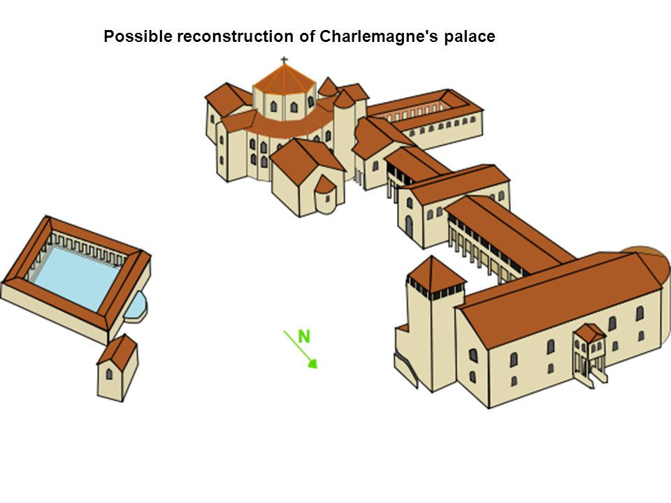 Possible reconstruction of Charlemagne's palace