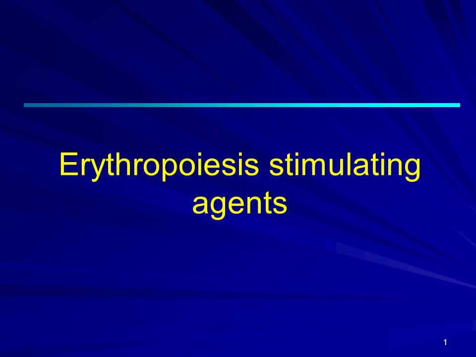 2 Erythropoesis stimulating agents Erythropoiesis-stimulating agent, commonly abbreviated ESA, an agent similar to the cytokine (erythropoetin) that stimulates red blood cell production (erythropoeisis).