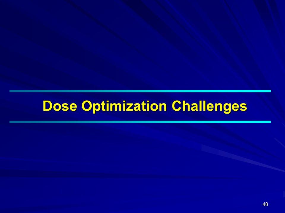 48 Dose Optimization Challenges