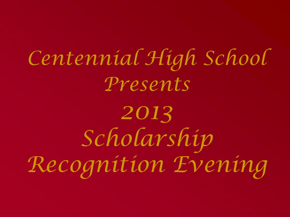 The CHS Senior Class Committee Scholarship Presented by Angie Law