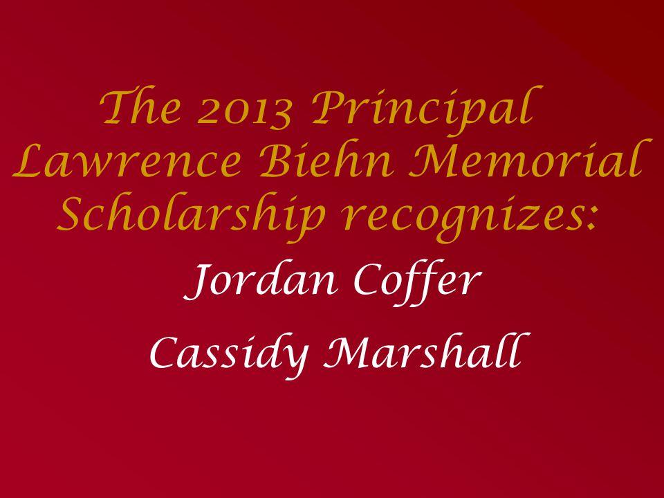 The Slipka Leadership Scholarship Presented by: Brian & Megan Slipka