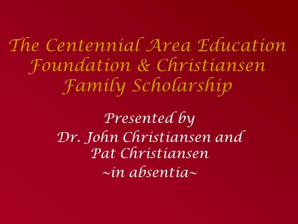 The Cathy Biehn Memorial Scholarship goes to… Garrett Jensen Allison McMullan