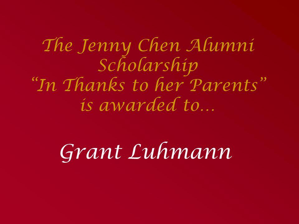 The General Scholarship Fund Presented by Jennifer Eichten