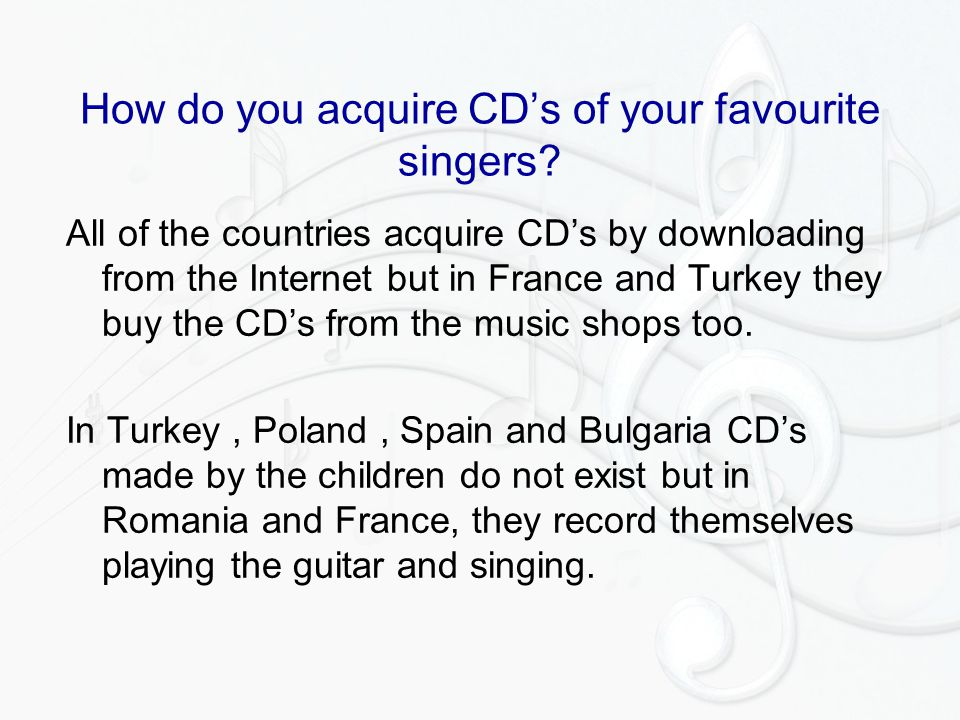 How do you acquire CD's of your favourite singers.