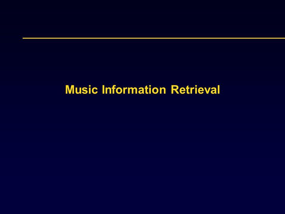 Music Information Retrieval