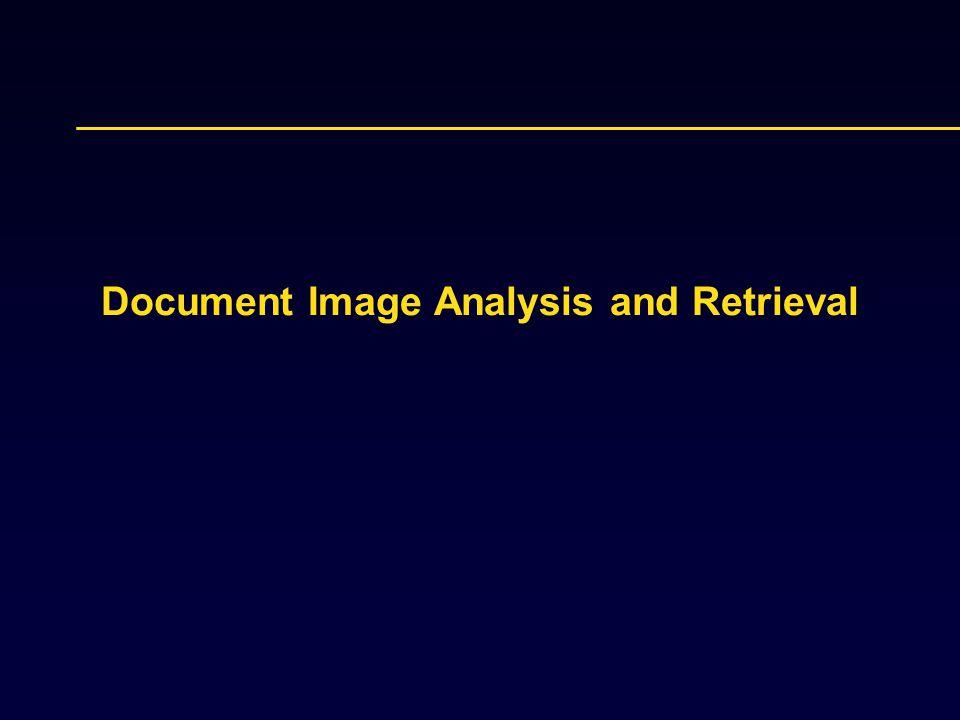 Document Image Analysis and Retrieval
