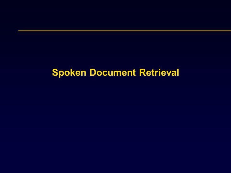 Spoken Document Retrieval