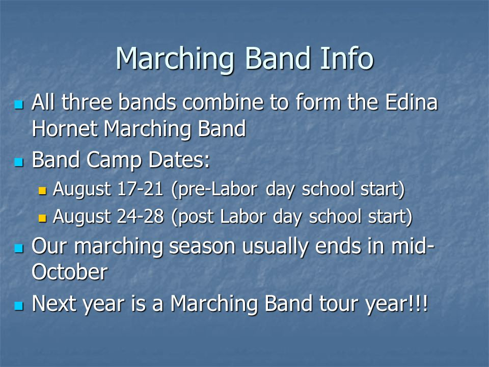 Athletics/Activities and Band MYTH: Students in sports, activities or on Varsity teams are not able to be in band FACT: Band students can and do participate in virtually every athletic team and fine arts activity in the school.