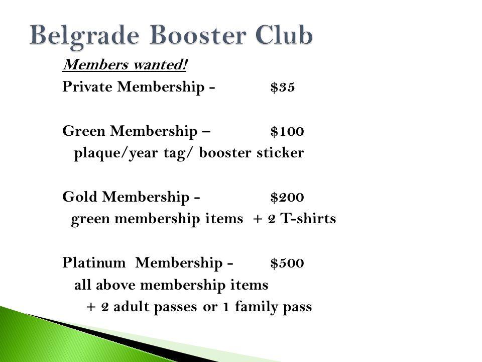 Members wanted.