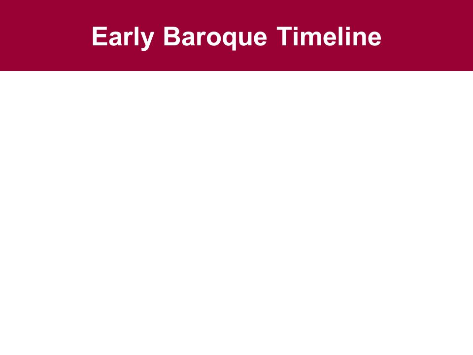 Early Baroque Timeline