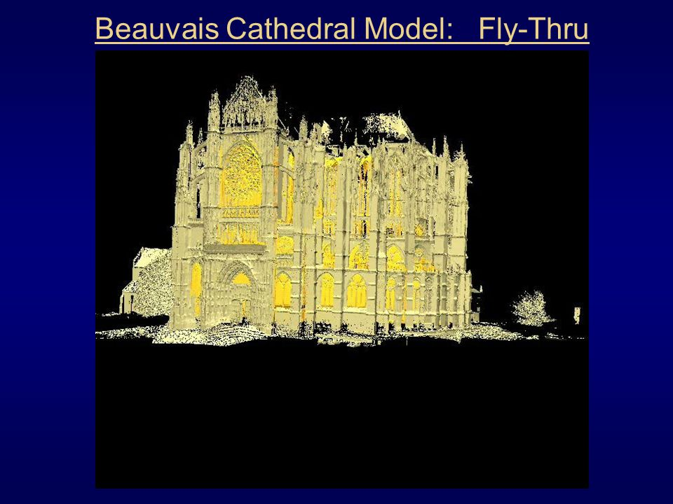 Beauvais Cathedral Model: Fly-Thru