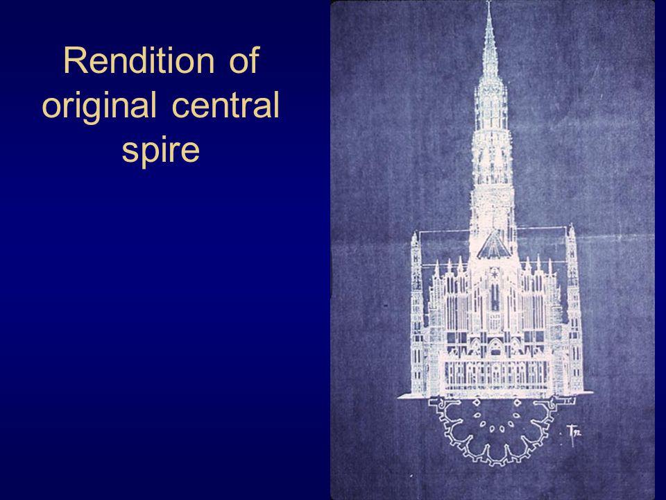 Rendition of original central spire