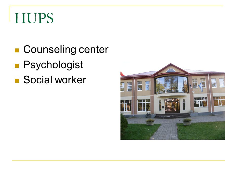 HUPS Counseling center Psychologist Social worker