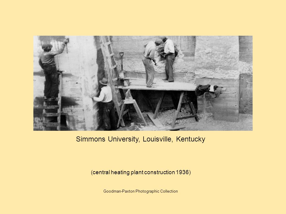 Simmons University, Louisville, Kentucky (central heating plant construction 1936) Goodman-Paxton Photographic Collection
