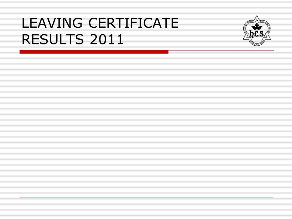 LEAVING CERTIFICATE RESULTS 2011