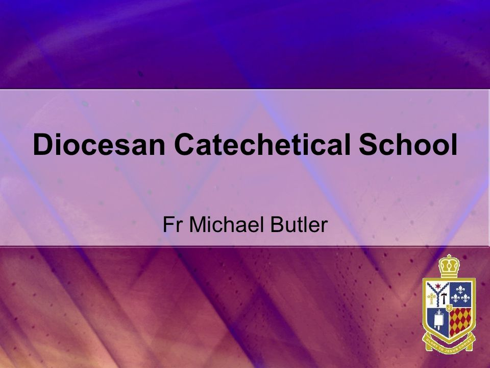 Diocesan Catechetical School Fr Michael Butler