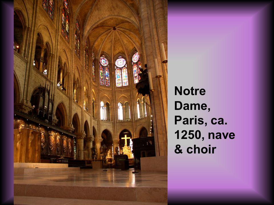 Notre Dame, Paris, ca. 1250, nave & choir