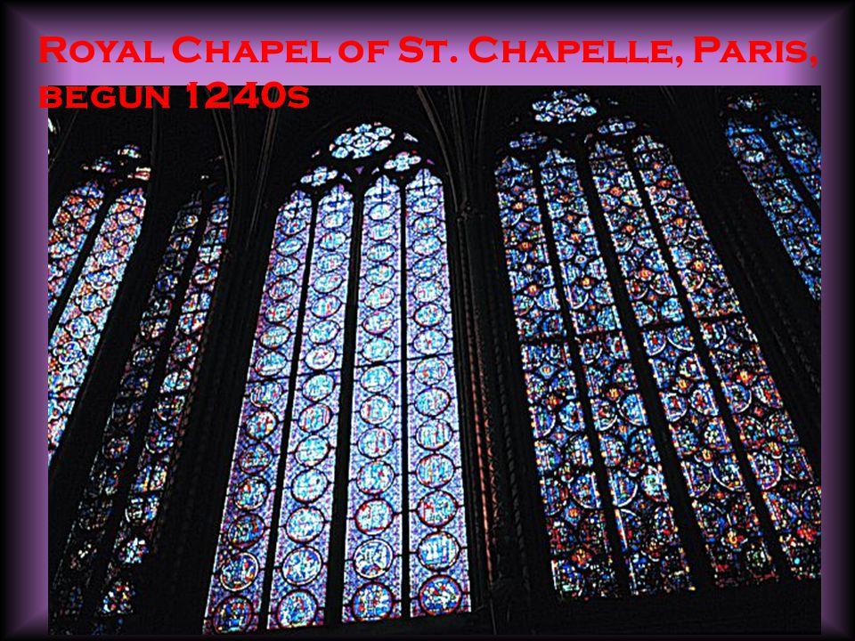 Royal Chapel of St. Chapelle, Paris, begun 1240s