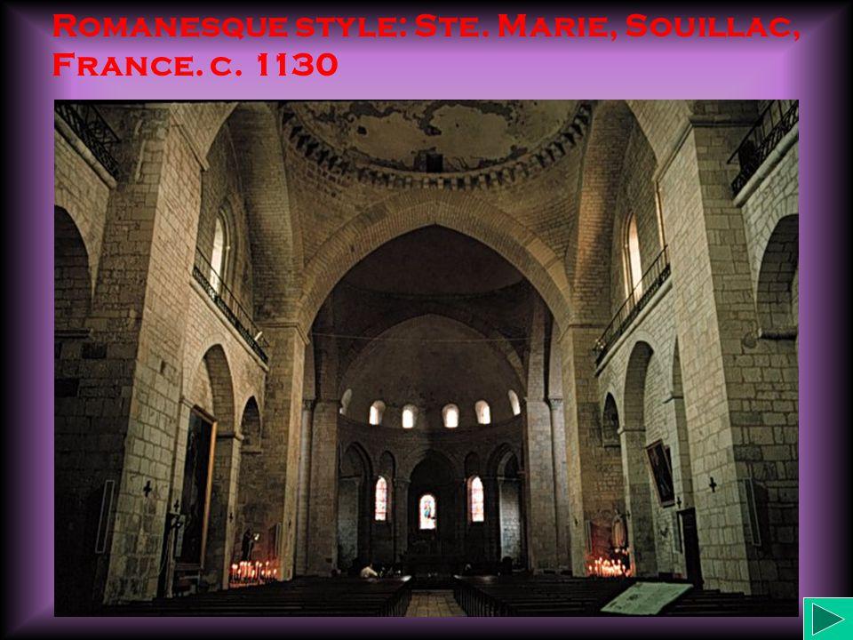 Romanesque style: Ste. Marie, Souillac, France. c. 1130