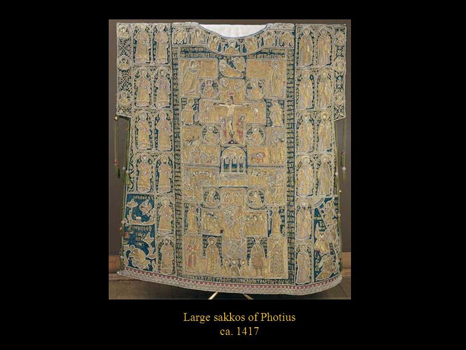 Large sakkos of Photius ca. 1417
