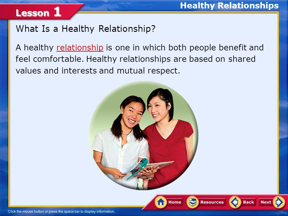 Lesson 1 Healthy Relationships