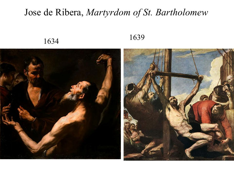 Jose de Ribera, Martyrdom of St. Bartholomew 1634 1639