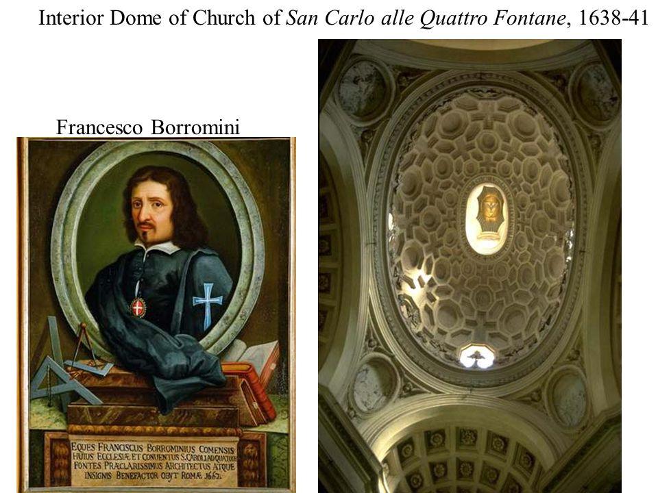 Interior Dome of Church of San Carlo alle Quattro Fontane, 1638-41 Francesco Borromini