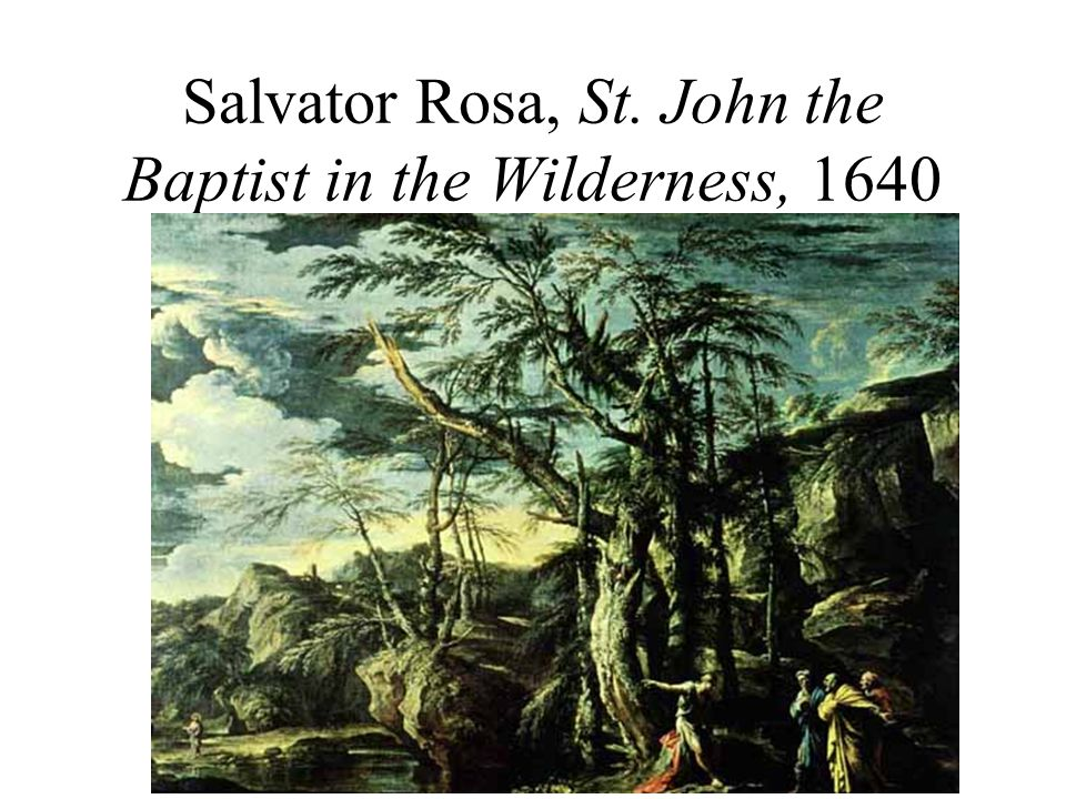 Salvator Rosa, St. John the Baptist in the Wilderness, 1640