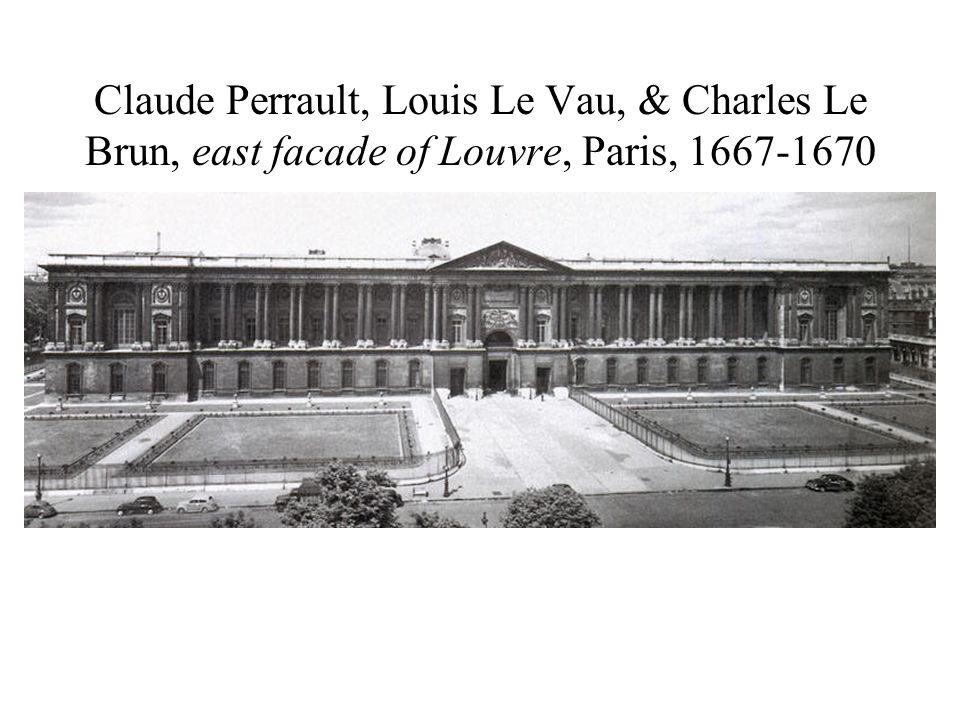Claude Perrault, Louis Le Vau, & Charles Le Brun, east facade of Louvre, Paris, 1667-1670
