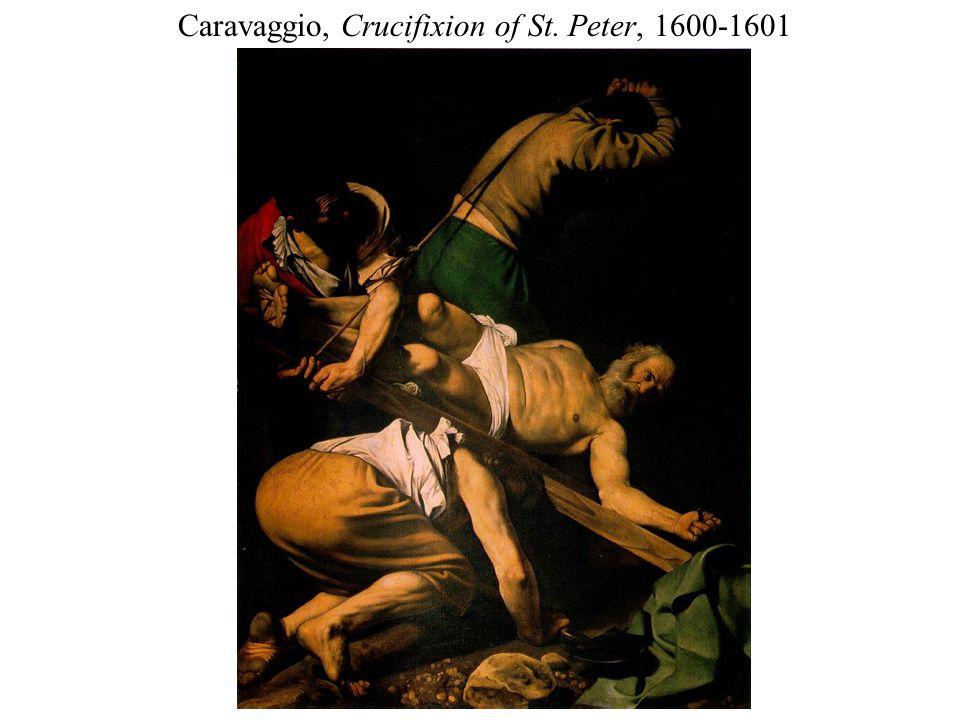 Caravaggio, Crucifixion of St. Peter, 1600-1601