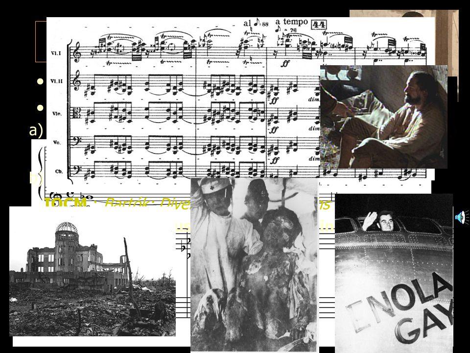 8 1: Diaboli in musica (a) 1A. Sick strings 1A1. Sick semitones d) Mendoza's jealousy (2) ongoing string screech IOCM: Penderecki: Thrénodie pour Hiro