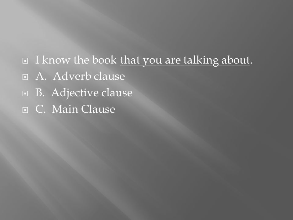  I know the book that you are talking about.  A.