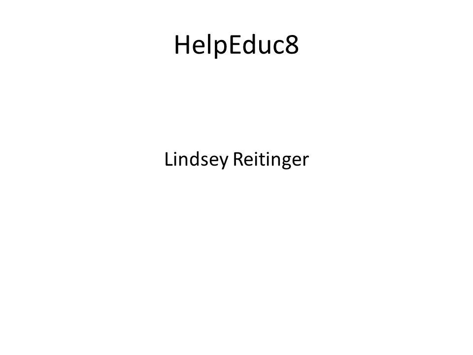 HelpEduc8 Lindsey Reitinger
