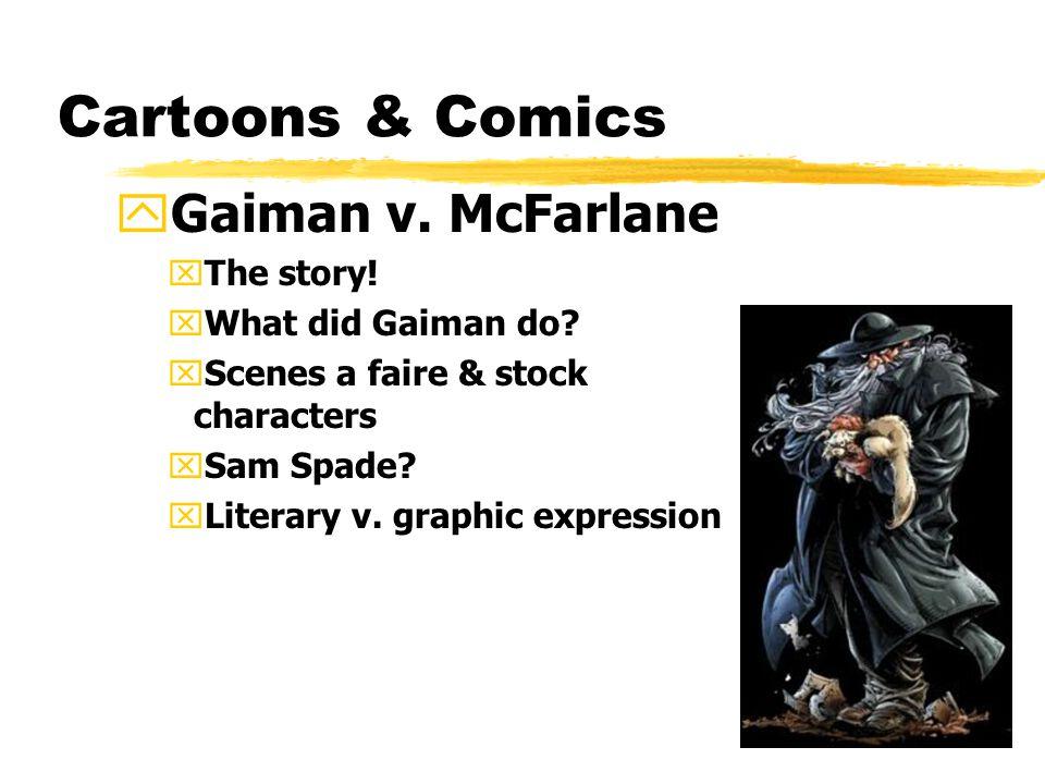 Cartoons & Comics yGaiman v.McFarlane xThe story.