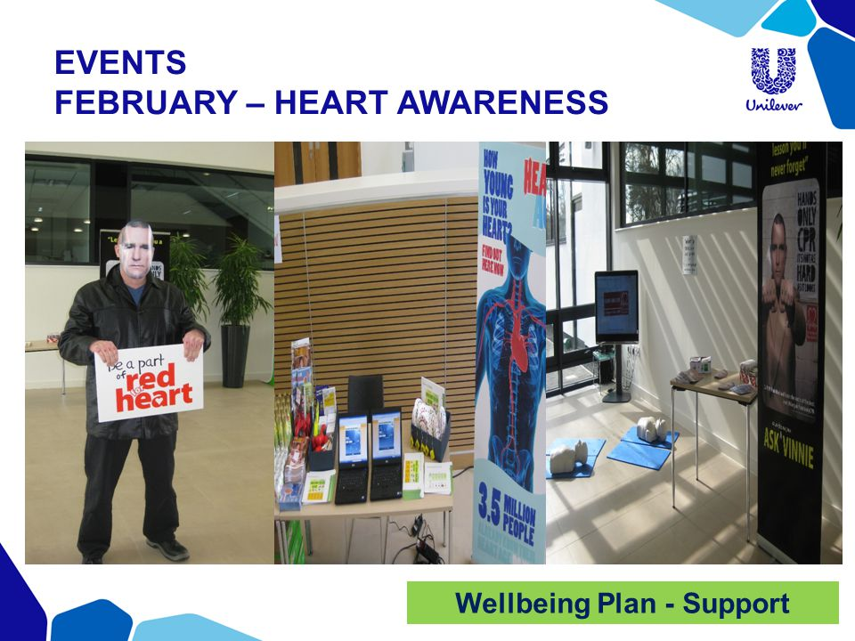 EVENTS FEBRUARY – HEART AWARENESS Wellbeing Plan - Support