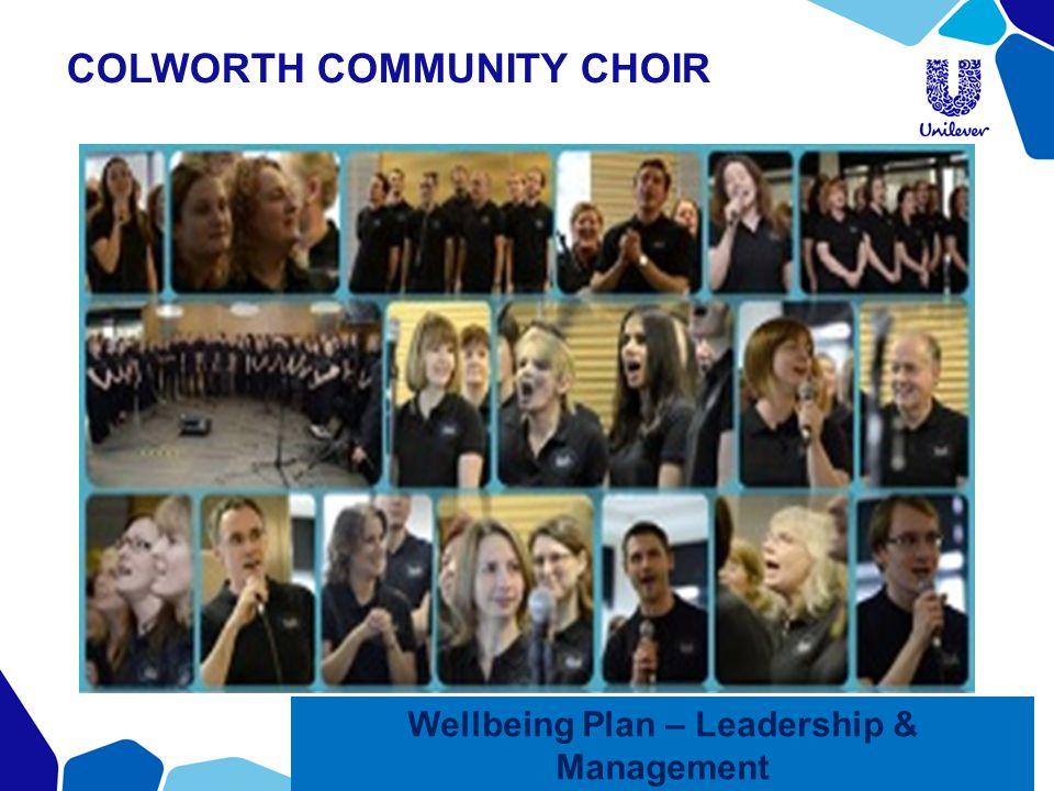 COLWORTH COMMUNITY CHOIR Wellbeing Plan – Leadership & Management