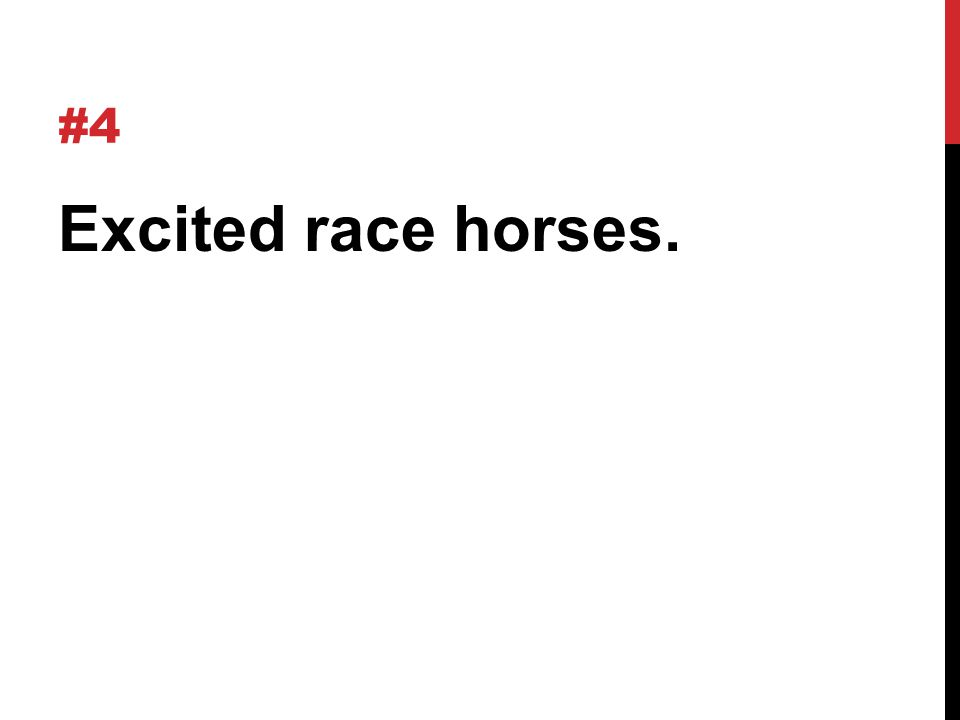 #4 Excited race horses.