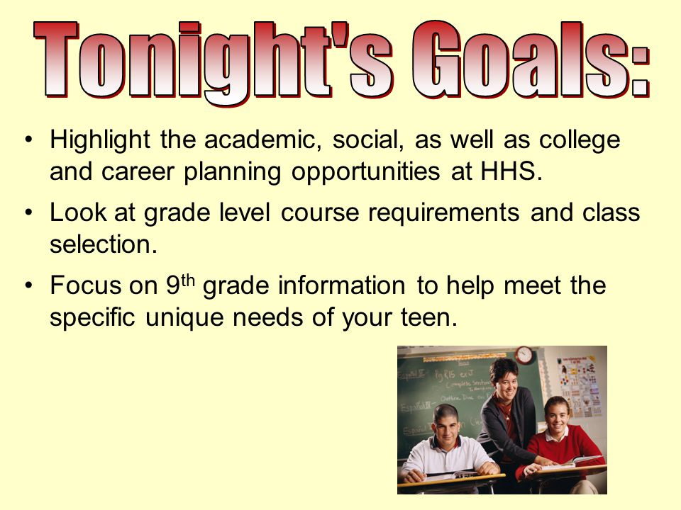 Highlight the academic, social, as well as college and career planning opportunities at HHS.