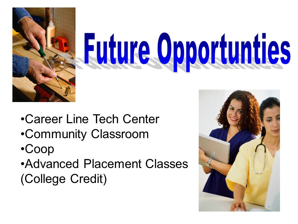 Career Line Tech Center Community Classroom Coop Advanced Placement Classes (College Credit)