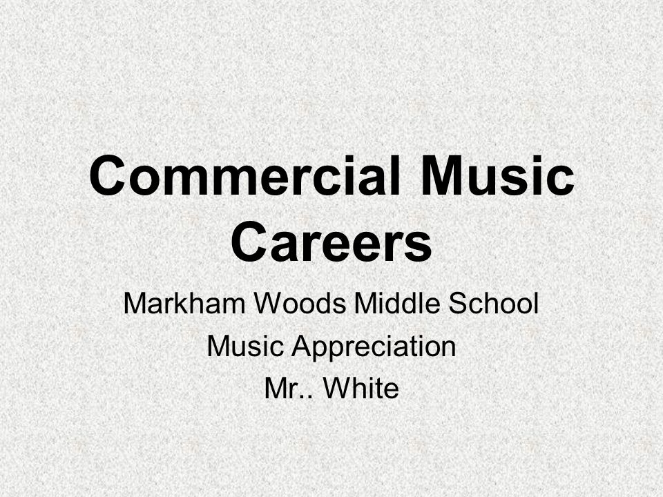 Music Publishing Music Publisher Composer / Arranger Music Editor Engraver Educational Director Marketing Manager Sales Representative