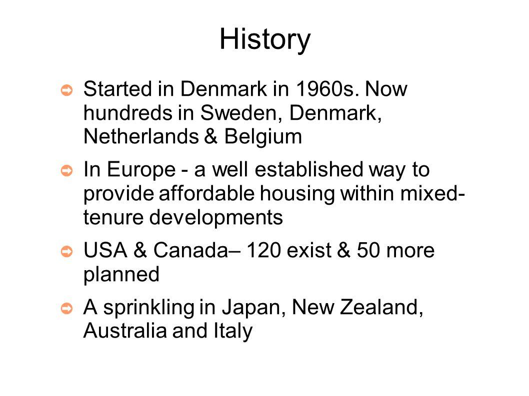 History ➲ Started in Denmark in 1960s.