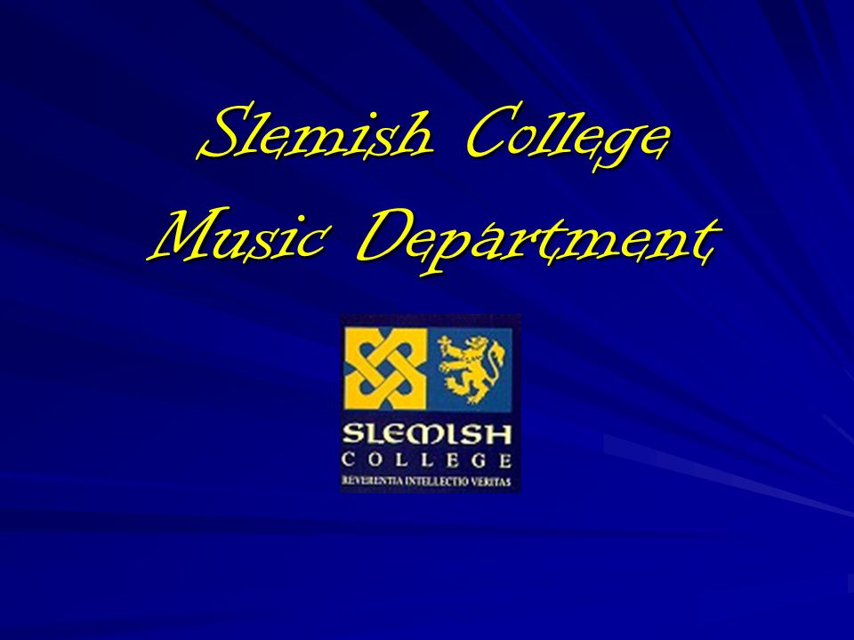 Slemish College Music Department
