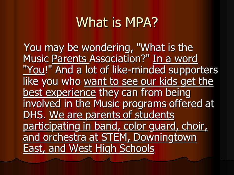 What is MPA.