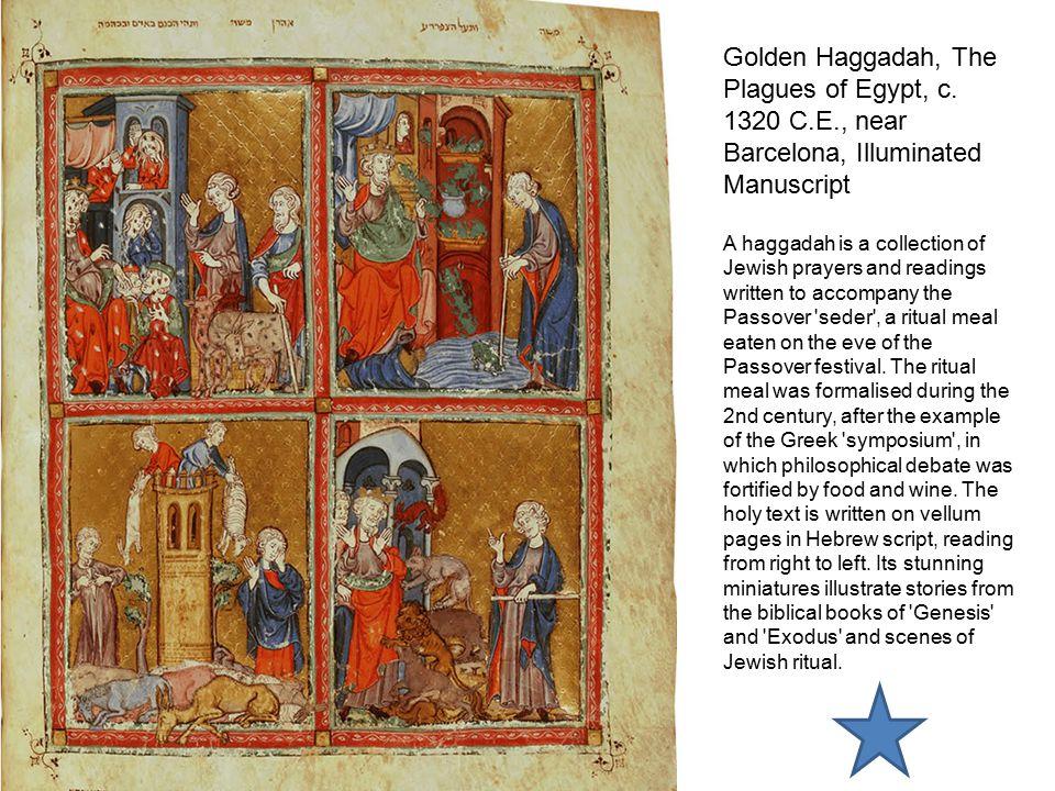 Golden Haggadah, Scenes of Liberation, c. 1320 C.E. Illuminated Manuscript