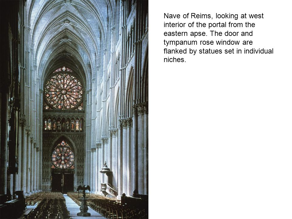 Notice the stubby transept and deeper radiating chapels, still has an ambulatory around the altar area.